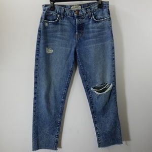 Current/Elliott Blue Distressed Jeans Size 27-0